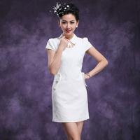 Jmfive2013 summer fashion women turn-down collar puff sleeve one-piece dress female short-sleeve