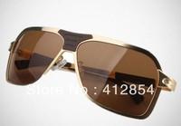 Italy High quality Brand Original Fashion Sunglasses vintage anti-uv Retro Motorcycle Metal Classic Sunglasses 2 glasses drive