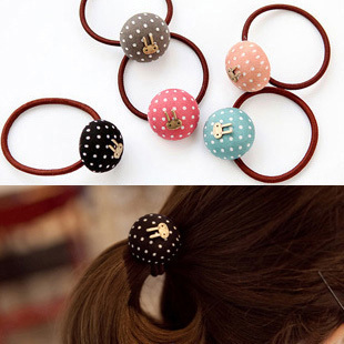 Accessories vintage rabbit dot heart hair rope tousheng hair accessory headband rubber band female(China (Mainland))