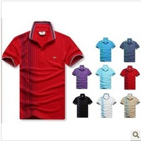 Drop Shipping 2013 Spring Fashion Brand T-Shirt Men Classical Men's New Polo Shirt Short Sleeve Size M L XL XXL  Free Shipping