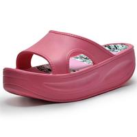 Summer platform slippers wedges women's drag swing shoes platform   fashion sweet sandals hole sandals
