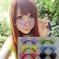 Retro! Prince Glasses! Small Round Glasses! Male and Female Models! Colorful Sunglasses!