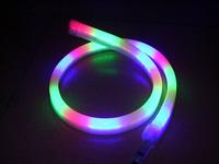 Led strip line lights with flexible rainbow tube neon lamp flashing lights