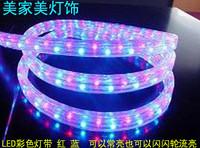 Led strip neon lights with lights background light belt decoration lamp belt flat three wire red blue light