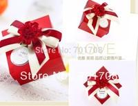 100pcs /Lot  Wedding Favor Cake Boxes gift box candy box 8.5*7*4.5