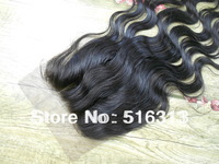 Hot! 3 way part front lace closure body wave,free shipping, in stock,size4*4,in 1#,1B color,guaranteed quality,fast delivery