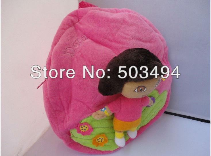 Dora the Explorer escola Plush mochila 11.5 '' marca New EMS grátis frete 20 / LOT(China (Mainland))