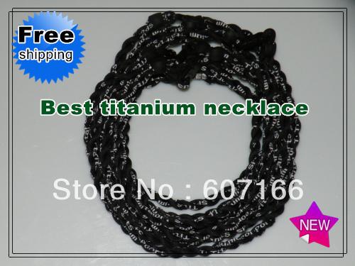 customized titanium sports necklace double braid nylon sport titanium necklace(China (Mainland))