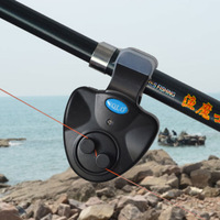 Free Shipping Promotion DISCOUNT 3pcs Yolo Electronic Sea Rod Fishing Bite Bell Alarm Pole tossed Sound Buzzer LED Light Clip