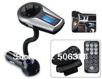 Free shipping + XN-398 Bluetooth Car Handsfree MP3 Player with LCD Display, FM Radio and RF Remote Control