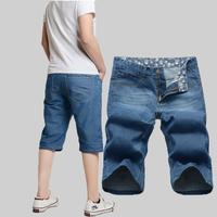 Men's clothing thin denim capris cool breathable male capris blue pants trousers hot-selling male capris