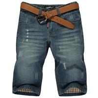 Dk203 men's clothing 2013 summer short jeans thin capris denim shorts male