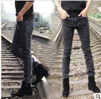 Spring non-mainstream men's clothing black male slim jeans skinny pencil pants male