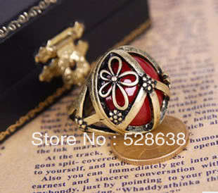 2013 jewelry fashion rings with stones LvKong gem ring of carve patterns or designs on woodwork restoring ancient ways(China (Mainland))