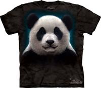 Themountain personalized giant panda lovers 100% cotton t-shirt male