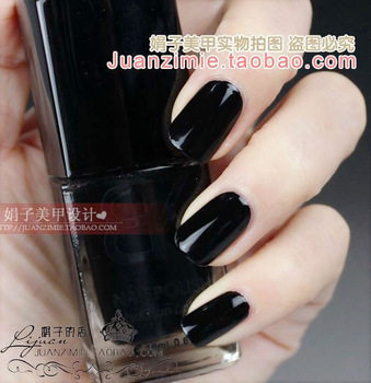 Bottle nail art casebottle bk nail polish oil 18ml classic black 03