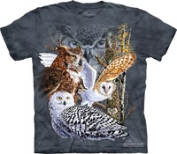 The mountain personality owl lovers 100% cotton t-shirt