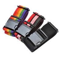 Free Shipping! 2pcs Minorder Rainbow Travel Luggage Suitcase Strap/Luggage suitcase Secure Lock Safe Belt Strap H801