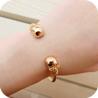 Min order is $10  fashion vintage punk double skull human skeleton bangles slider
