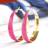 Various Color Alloy drip Hoop Earrings Min.order 10USD,Free shipping