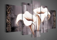 Hand-painted wall art lily flowers beauty  decoration abstract  oil painting on canvas no framed wall art decorative pitures