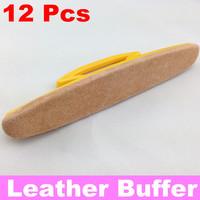 [ Retail ] Yellow Nail Buffer, Nail Art Leather Soft Buffer + Free Shipping