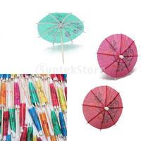 Free Shipping 144 Paper Tropical Hawaiian Cocktail Drink Parasol Umbrella