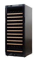Sicao fashion jc-350a compressor temperature wine cooler solid wood shelf 122