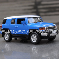 DIECAST METAL 1/32 SOUND & LIGHT PULL BACK TOYOTA FJ CRUISER SUV CAR MODEL