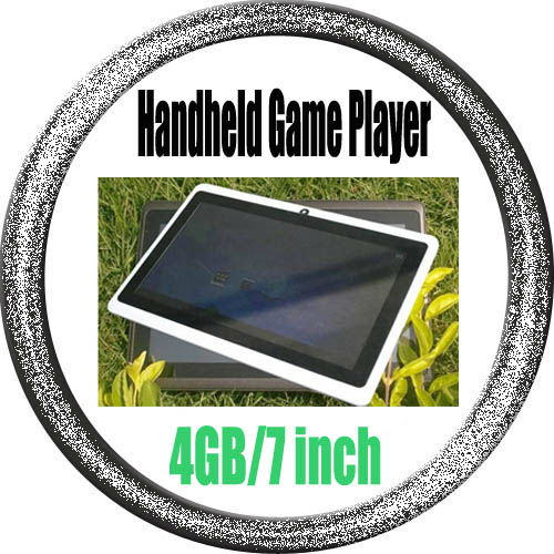 Free shipping, Android4.0.4 4GB Handheld Game Player / 7.0 Inch Multi-point capacitive touch screen Game Console(China (Mainland))