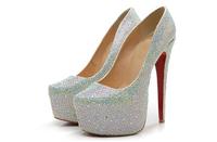 Multicolor diamond high platform highheel elegant lady