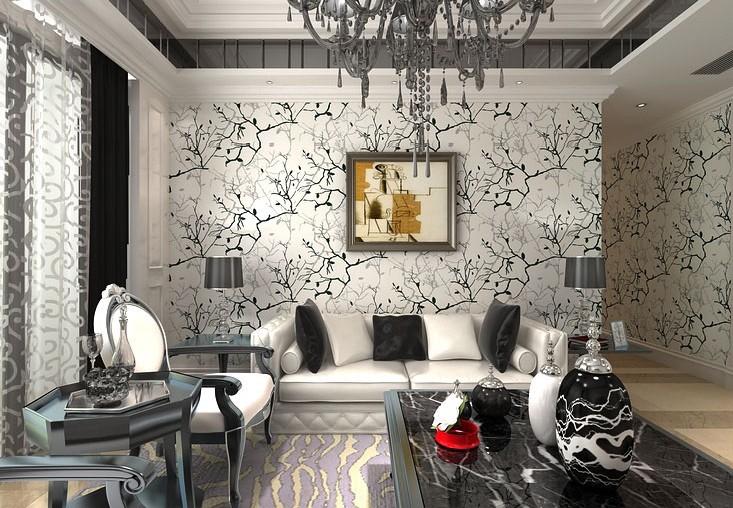 Grijs Zwart En Roze Kamer : Black Grey Living Room Wall Paper