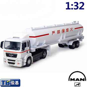 Large tank truck model transport truck model toy stacking container car alloy car model cars