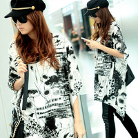 New arrival 8451 loose plus size women's short-sleeve o-neck t-shirt real pictures with model