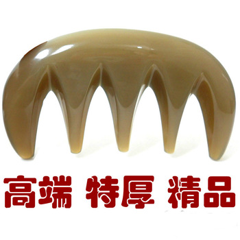Ultra wide pitchy threesoft thick super cool the scalp massage comb natural horn comb horn comb