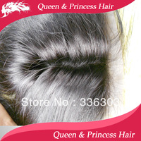 "Free Part 100% Hand tied Malaysian virgin straight hair closure 4""x4"" top silk base 10""-22"" bleached knots  free shipping"