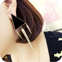 Min order is $10  fashion punk rivet trigonometric star style glaze  drop earring