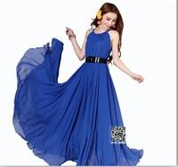 2013 plus size beach bohemia expansion bottom chiffon full dress spaghetti strap one-piece dress