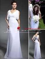 2013 new High quality sexy beach chiffon wedding dresses v-neck tank zipper  jj048