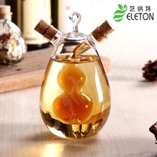Nordic style glass leak oiler glass condiment bottle sauce pot vinegar oiler glass jar oil bottle kitchen(China (Mainland))
