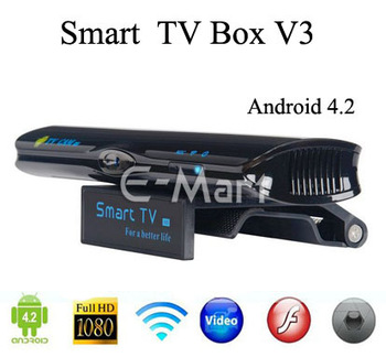 Smart TV BOX V3 Media Player Android 4.2 Bluetooth 3.0 WIFI Camera Function
