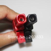 2Ps Medium size Red&Black Alligator Clip Crocodile Clamp Connector Testing Probe