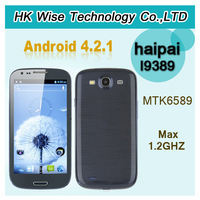 "New Haipai i9389 MTK6589 Quad Core Android 4.2.1 smartphone 4.7"" Capacitive Screen dual camera 1gb 4gb\ammy"