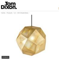 Tom Dixon  Etch Shade Brass (cm)50 +Free shipping