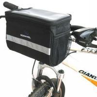 1x 2013 Cycling Bike Bicycle Handlebar Bar Bag Front Basket Velcro Quick Release
