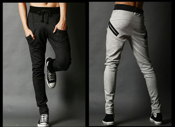 Casual Men Harem Baggy Hip Hop Taper Dance Sport sweat Pants Trousers Slacks
