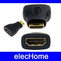 Free Dropshipping Mini HDMI male to HDMI Female Converter, 50pcs/lot