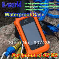 Hot sale Fashion free shipping Brand New Soft WaterProof Float water/dirt/shock proof Case Covers for iPhone 4 4s 5