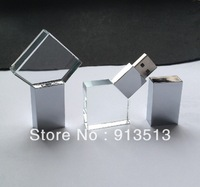 Wholesale new Crystal USB Flash disk 2GB 4GB 8GB accept logo printing free shipping