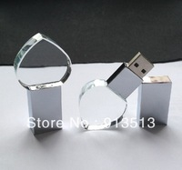 Heart shape Crystal material USB Flash disk memory 2GB 4GB 8GB free shipping